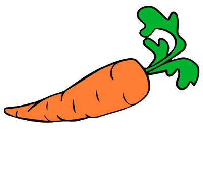 png black and white Vector carrot wortel. Clipart buah buahan pinterest