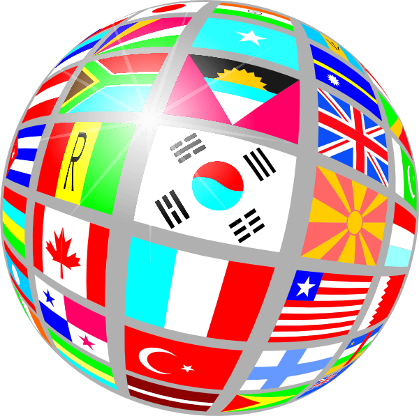 clip art black and white download Sphere Flags Clip Art at Clker