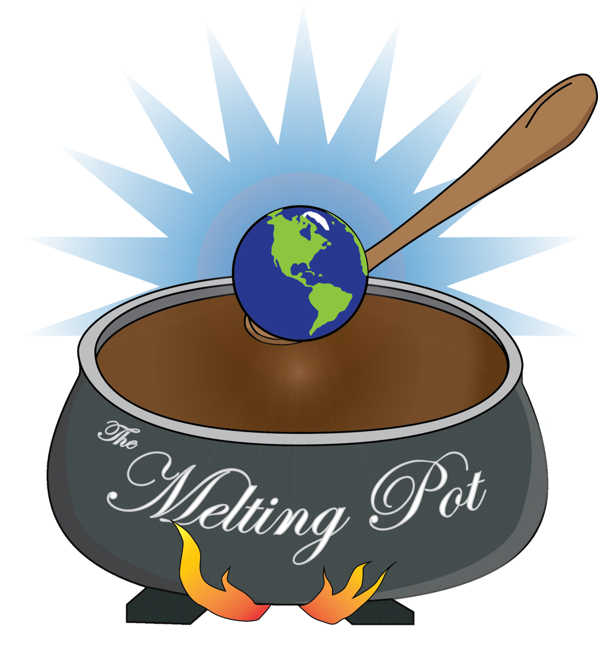 clipart royalty free stock Melting Pot Student Organization mixes cultures
