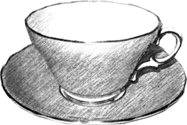 svg royalty free library Cup black and white clipart. Teacup free images at