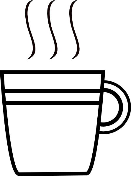 image royalty free stock Cup black and white clipart. Yet another coffee clip