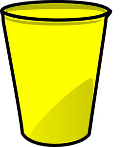 freeuse library Cup clipart. Yellow clip art at.