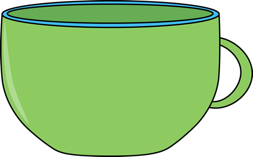 svg royalty free Green . Cup clipart.