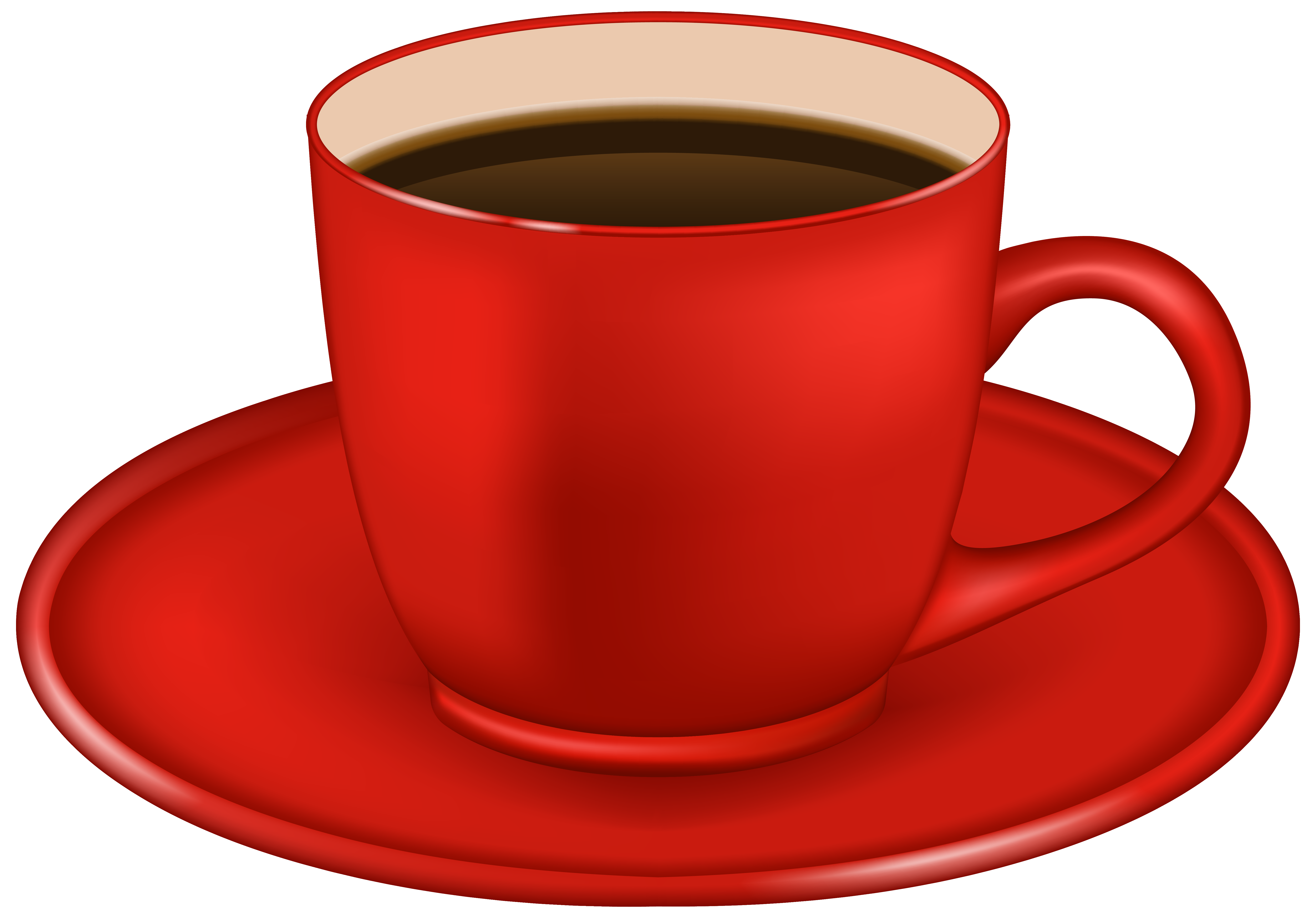 image transparent library Cup clipart. Red coffee png image.