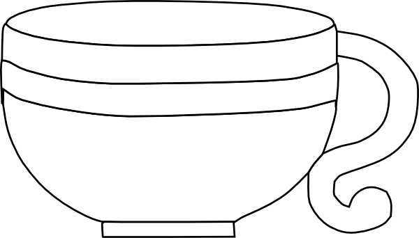 clip black and white library Clip art at clker. Cup clipart black and white