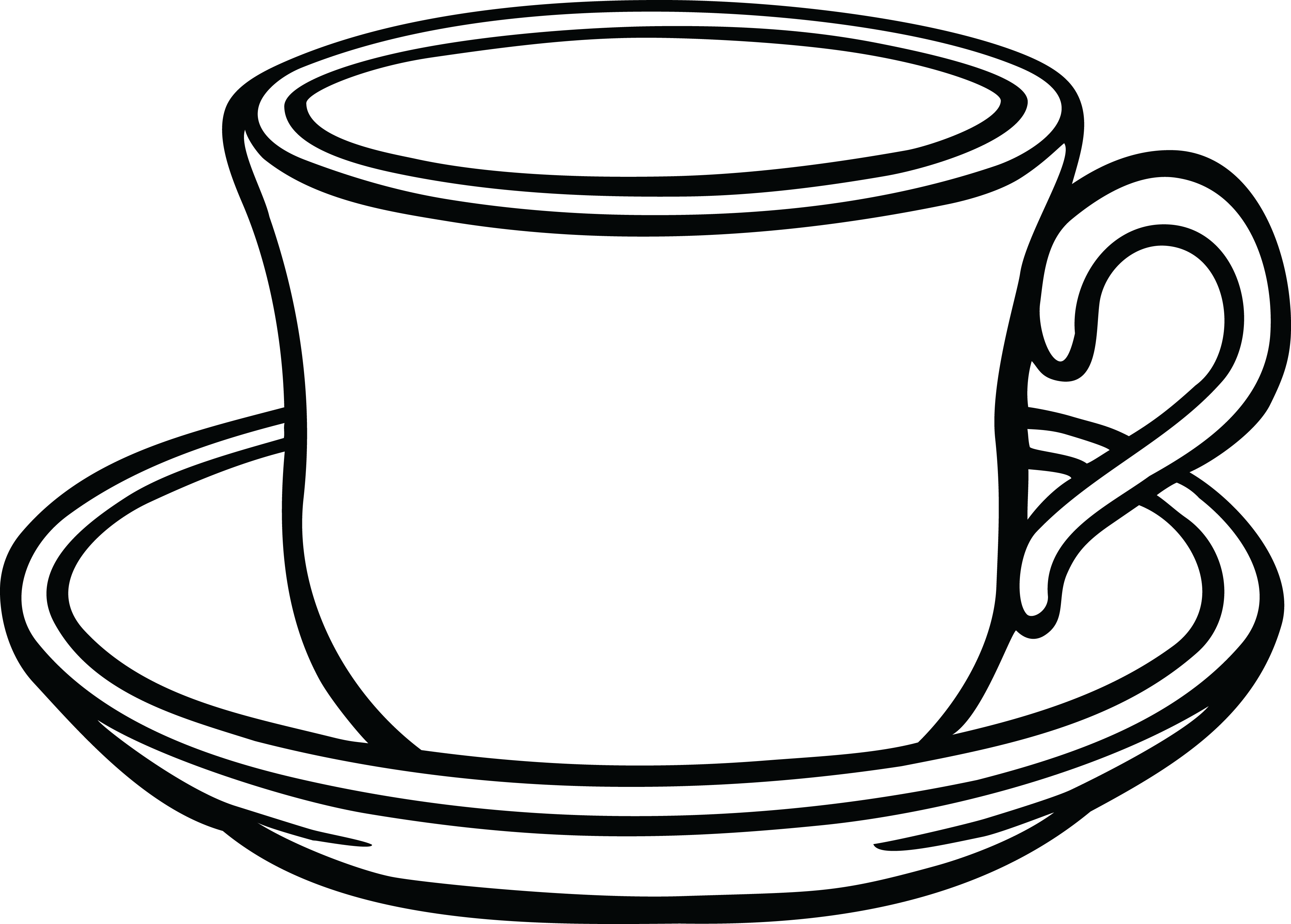 jpg free library Cup clipart black and white.  collection of saucer