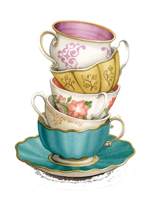 clip art royalty free download Stack png transparency overlay. Wonderland clipart stacked teacup