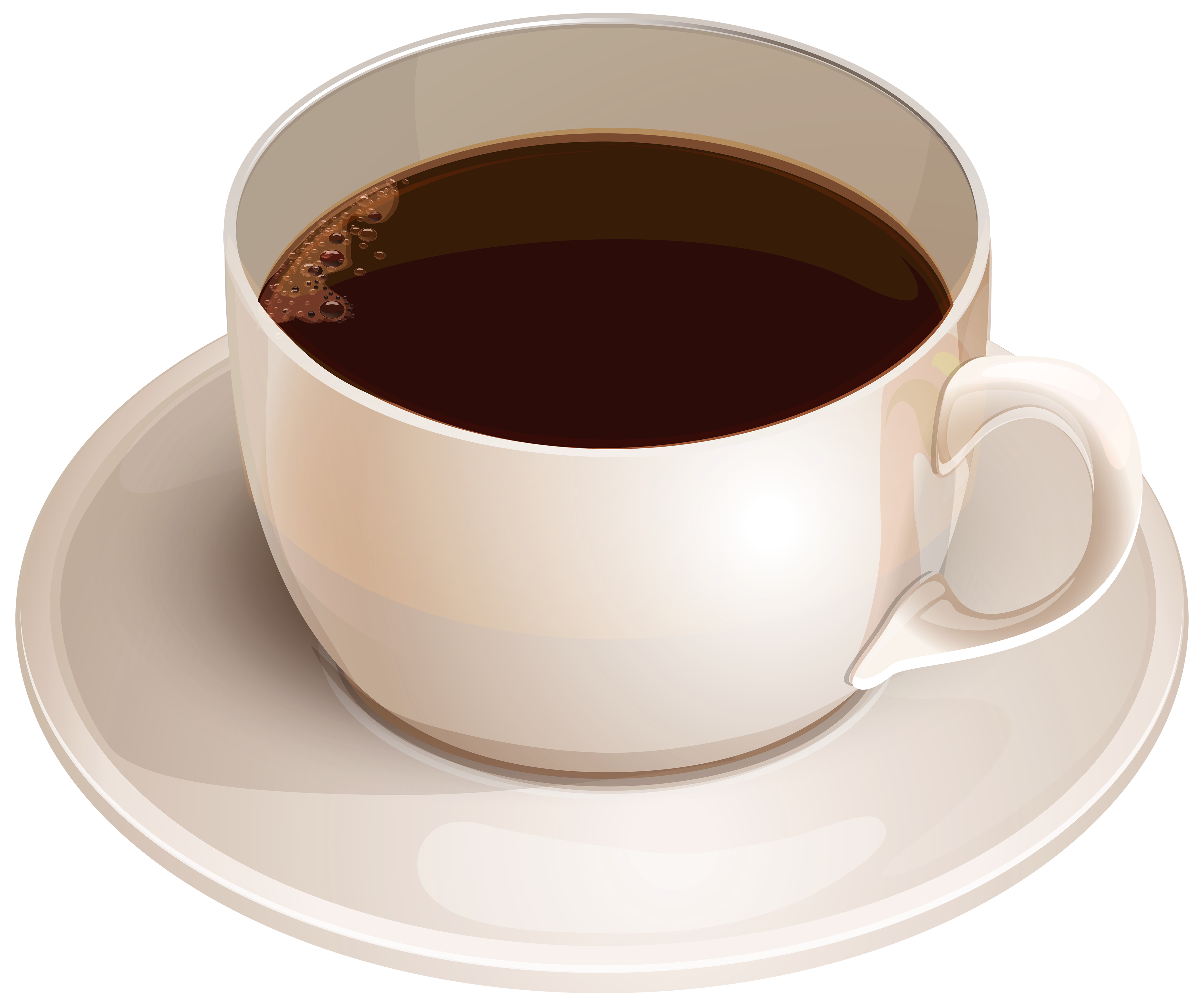 svg transparent White Cup with Coffee PNG Clipart