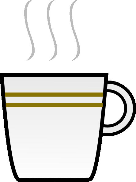 vector stock Steaming coffee mug clipart. Water cup panda free