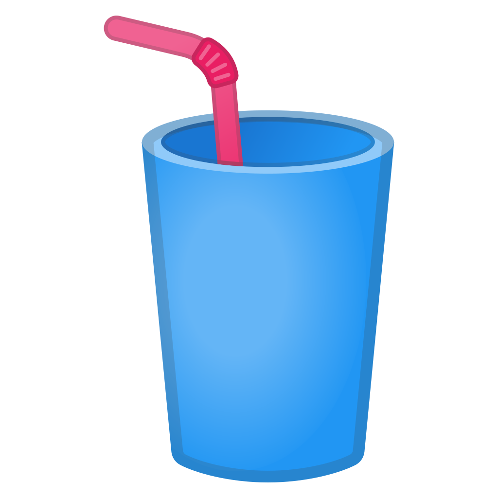 banner freeuse download Cup with straw Icon