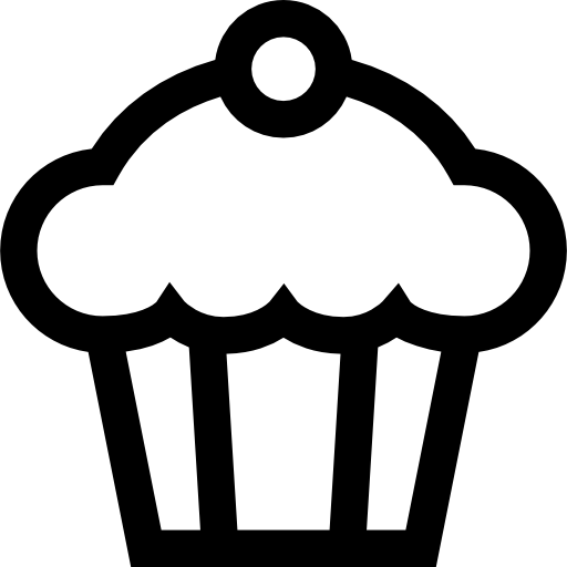 banner freeuse library Free food icons icon. Cupcake black and white clipart