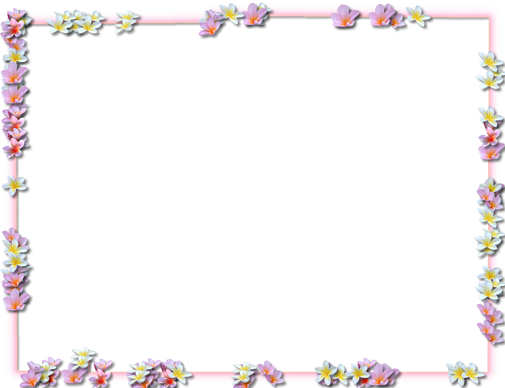 jpg library library Easter clipart borders. Purple flowers png transparent