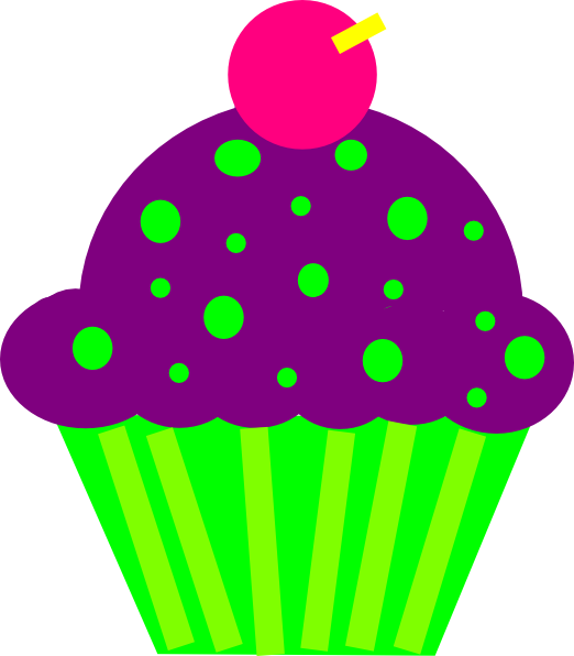 png royalty free Group clipart cupcake. Purple and lime clip