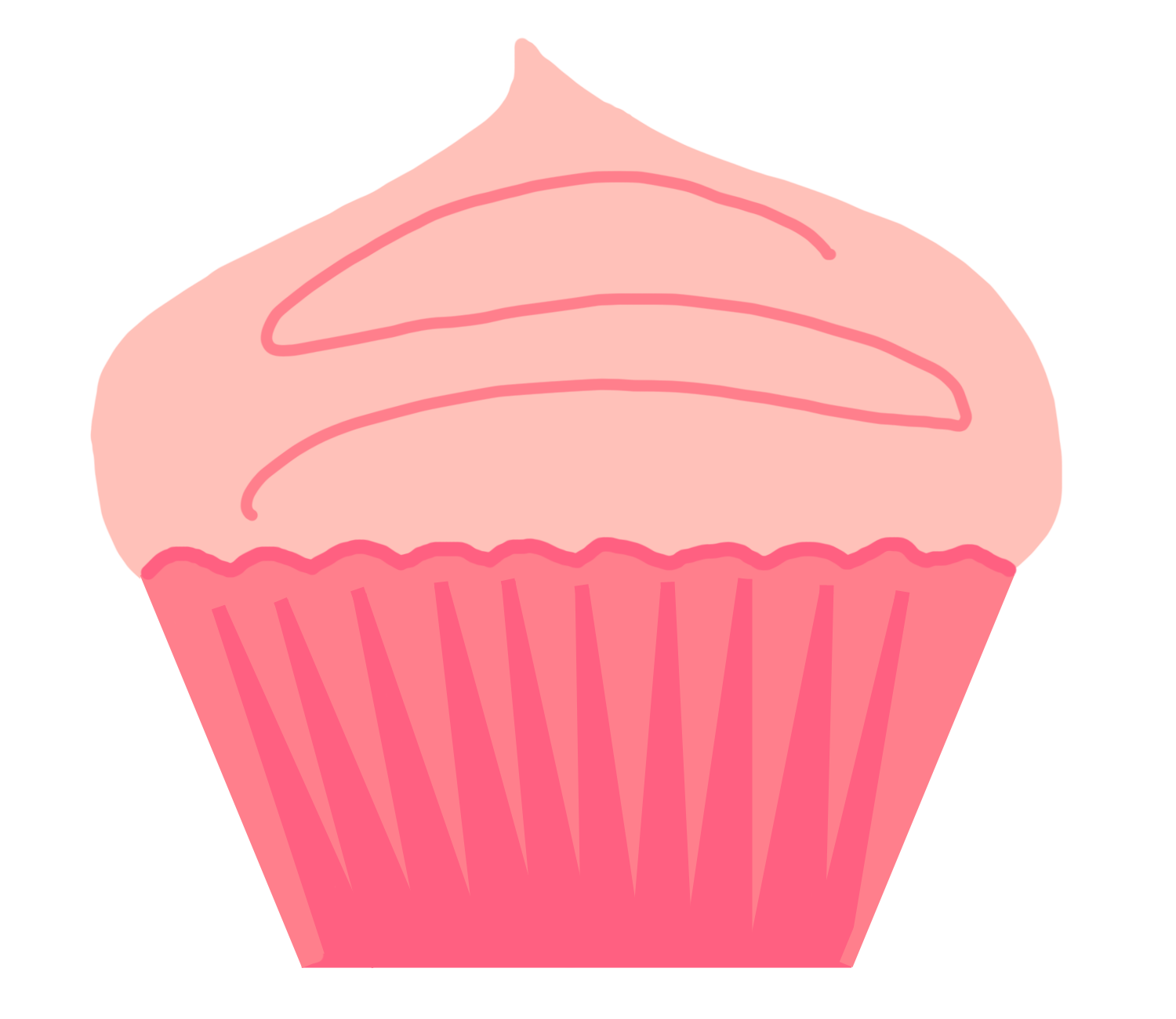 banner library download Cupcake Clip Art Black And White