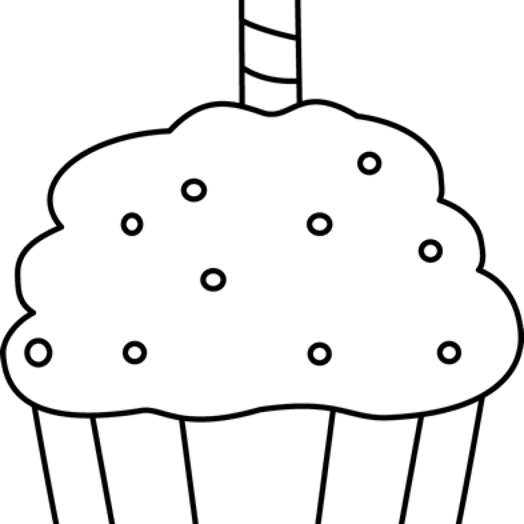 image Cupcake outline clipart black and white. Money hatenylo com birthday
