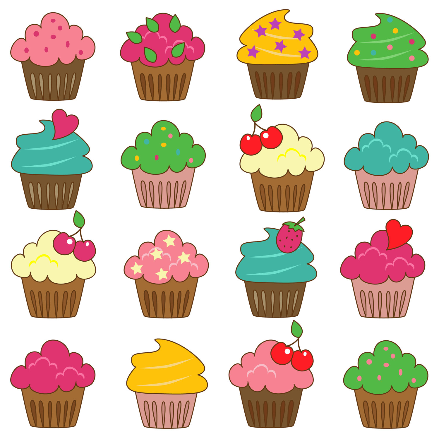clip art royalty free download Cupcakes clipart. Free cupcake cliparts download.