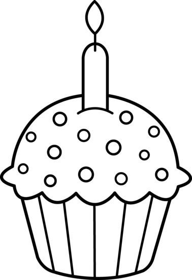 svg black and white stock Best Cupcake Clipart Black And White