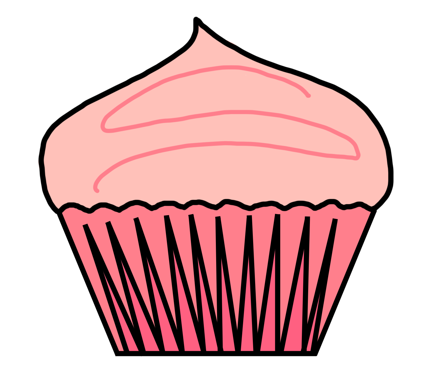 clipart library library Cupcake Clip Art Outline
