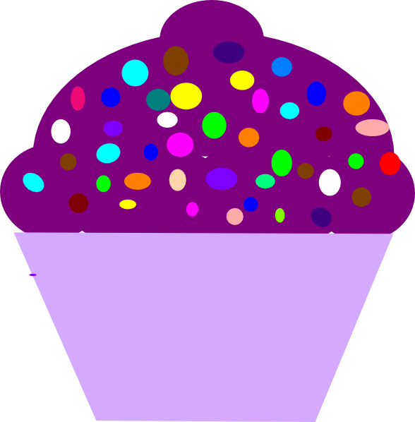 vector transparent Cupcakes With Sprinkles Clipart
