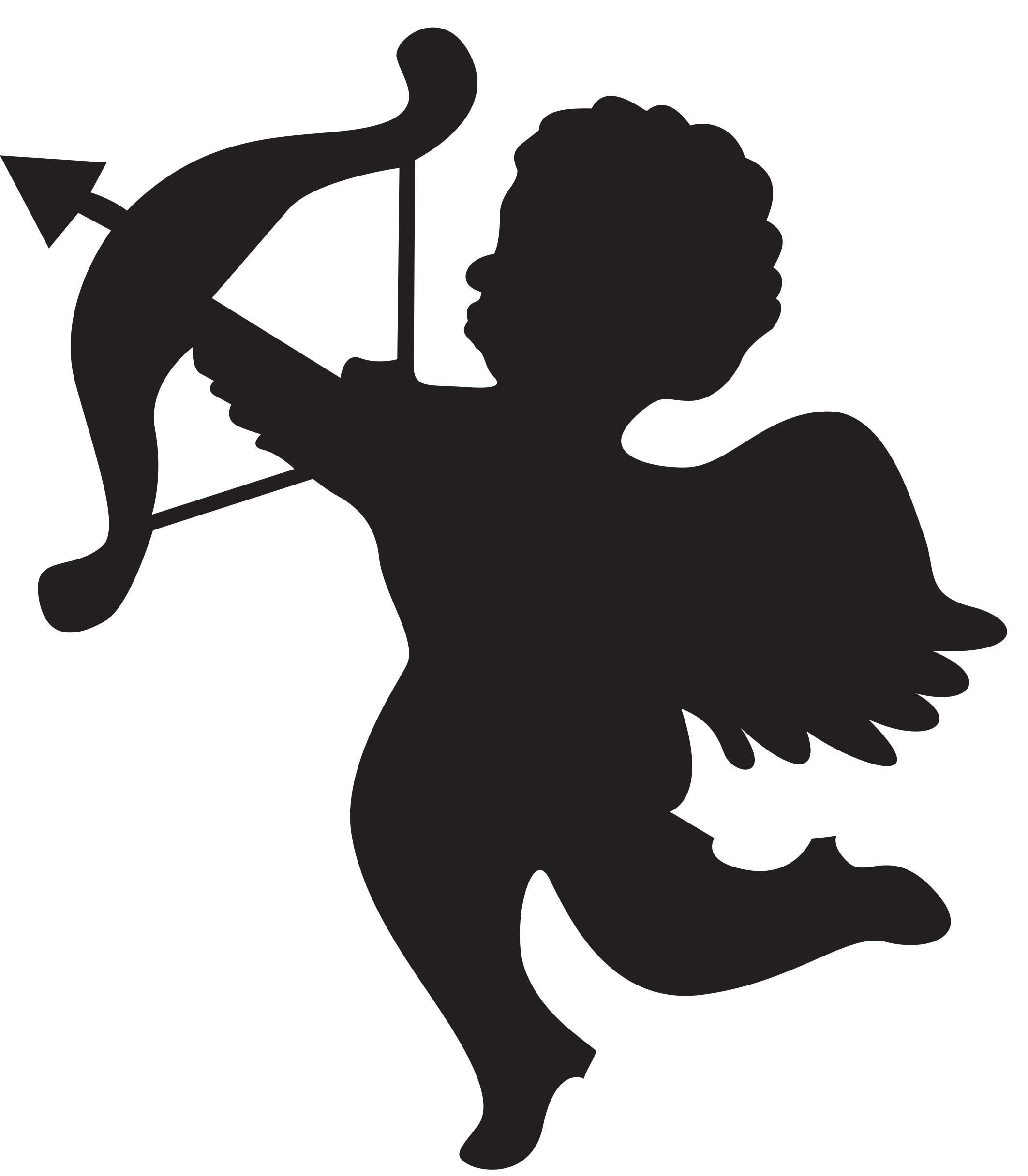 clip black and white stock Cupid clipart. Free cliparts download clip.