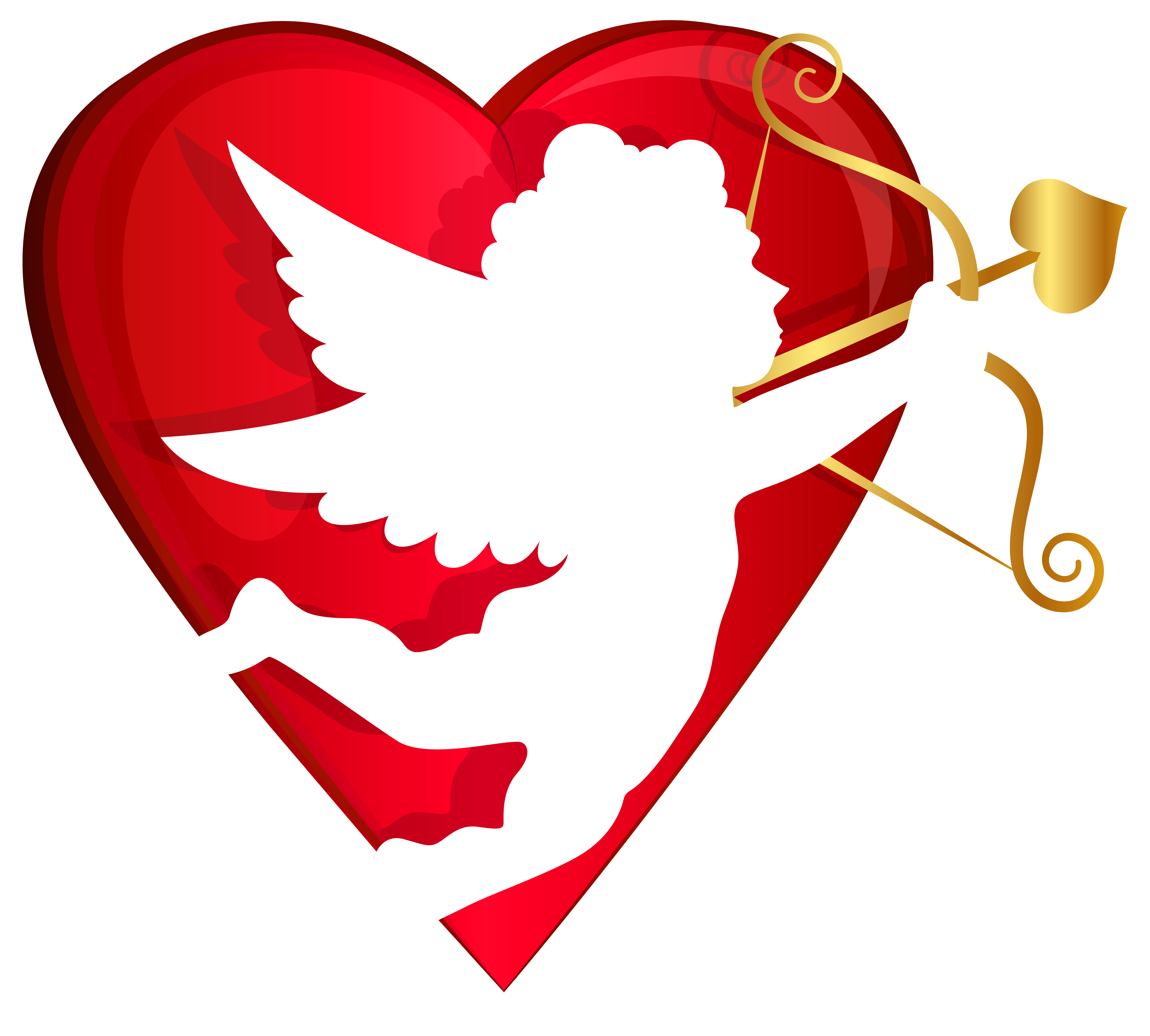 graphic transparent library Valentine vector flying. Red heart and cupid