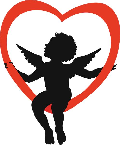 svg black and white download Cupid clipart. Pictures for valentines day.