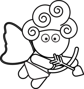 banner free Cupid Black And White Clipart