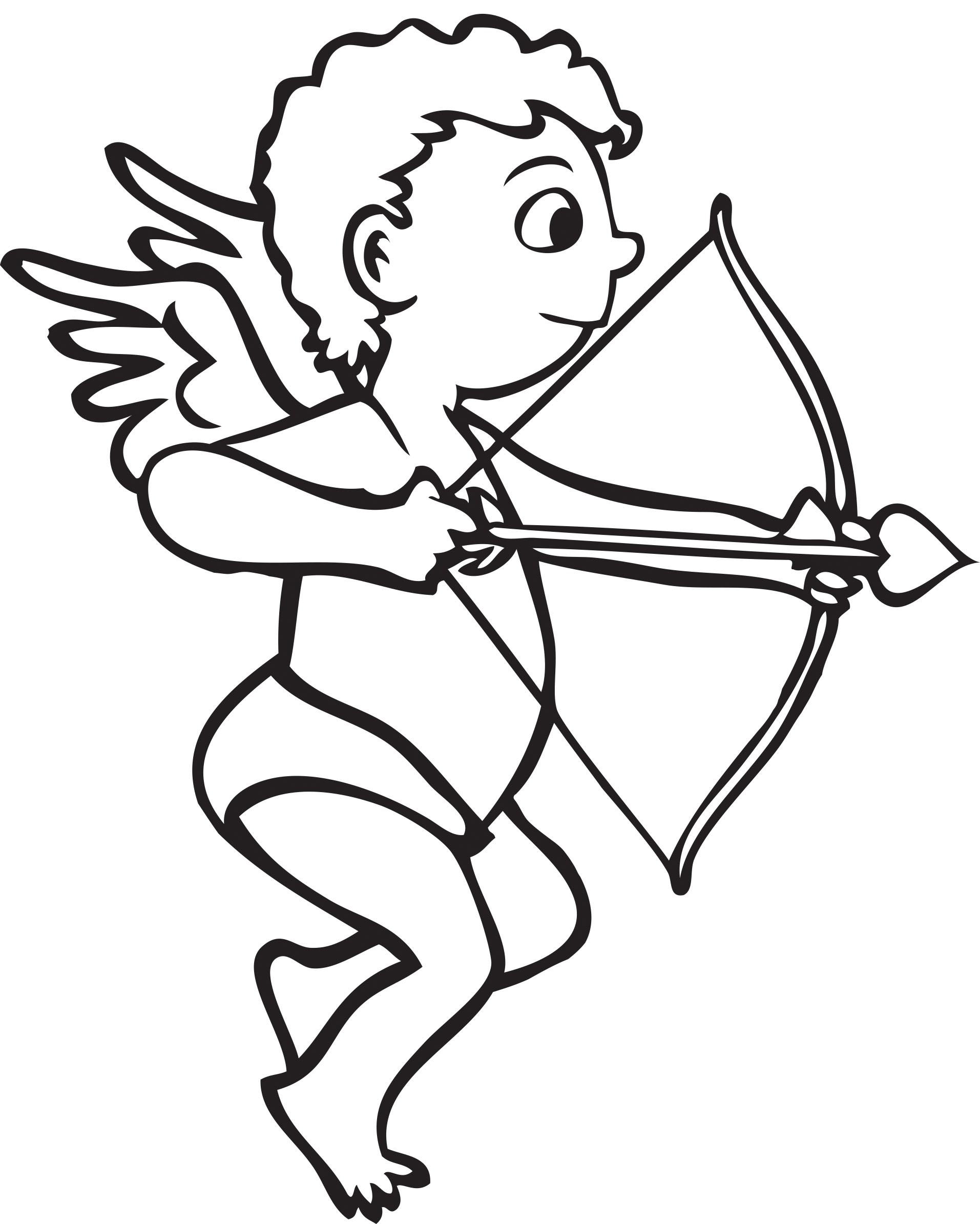 banner royalty free stock Cupid clipart black and white. Image of paintings