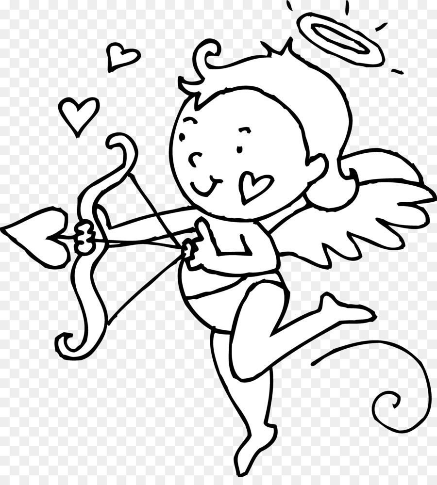 freeuse download Valentines day heart clip. Cupid clipart black and white