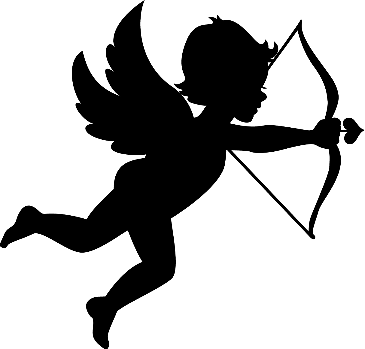 jpg black and white library Cupid transparent. Png images free download