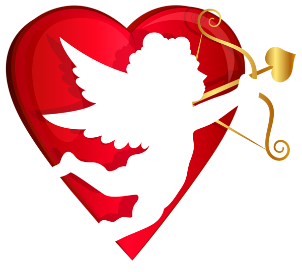 banner library library Red heart and transparent. Cupid clipart couple