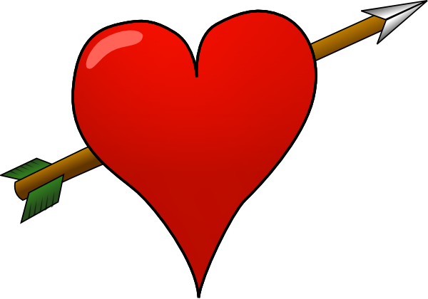 clip free stock Arrow clipart heart