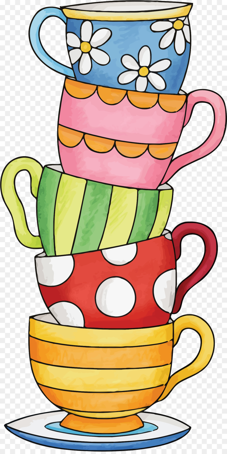 vector royalty free stock Cups clipart. Cup of coffee tea.