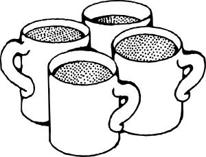 graphic stock Coffee mugs clip art. Cups clipart.