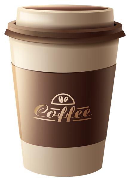 transparent library To go coffee cup clipart. Brown plastic png pinterest