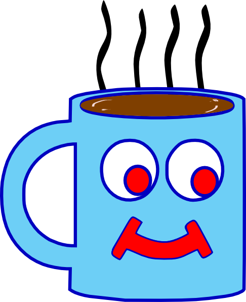 clip freeuse library Blue Hot Chocolate Cup Clip Art at Clker