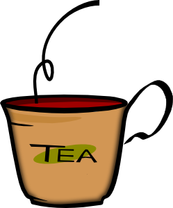 banner freeuse library Mugs clipart cuppa. Printerkiller cup of tea.