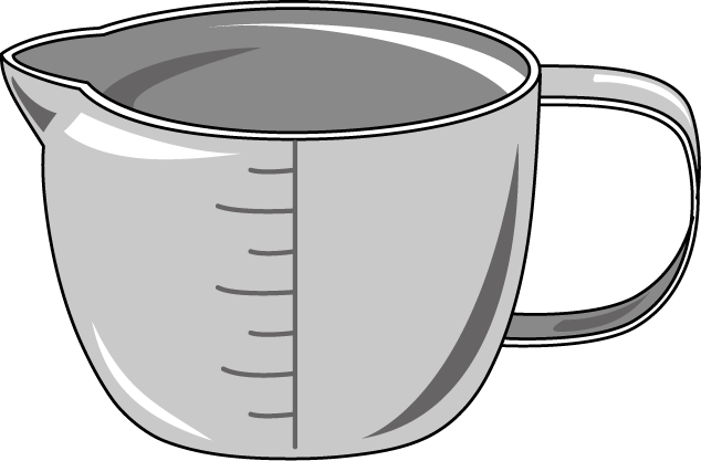 royalty free library Measuring cup clipart black and white. Png hd transparent images