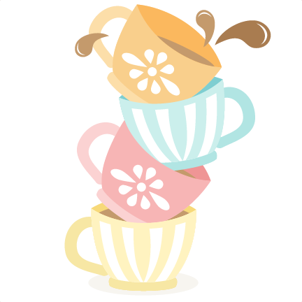 jpg freeuse Wonderland clipart stacked teacup. Tea cups svg cutting