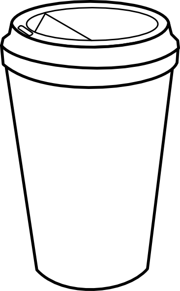clip art freeuse library Latte clipart outline. Coffee cup hi starbucks.