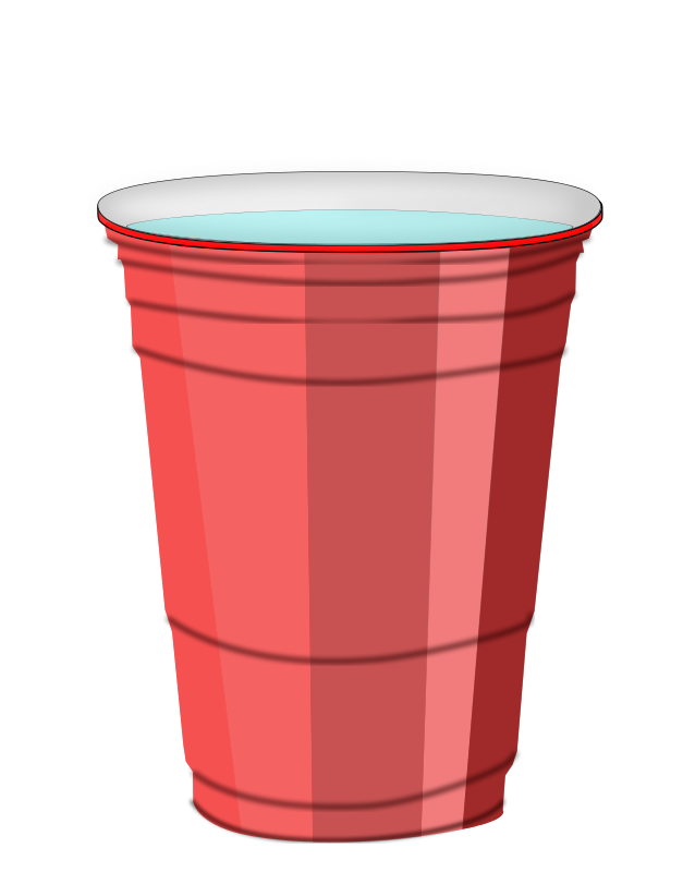 clip black and white stock Red Plastic Cup Clipart