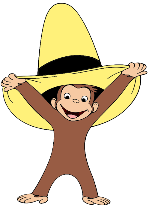 svg free download Curious george clipart. Clip art cartoon wearing