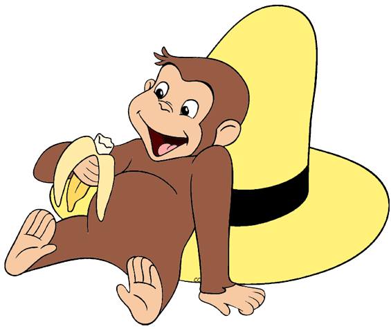 picture black and white stock Clip art cartoon eating. Curious george clipart