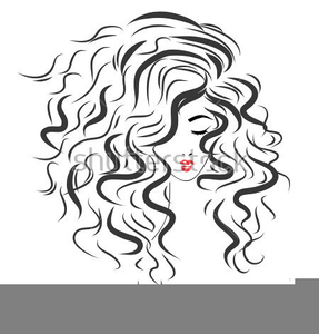 picture library download Lady with hair free. Curly clipart