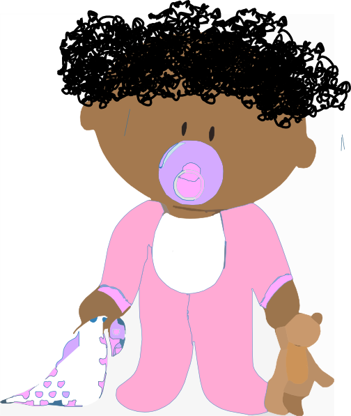 clip art free download Curly clipart. Baby girl clip art