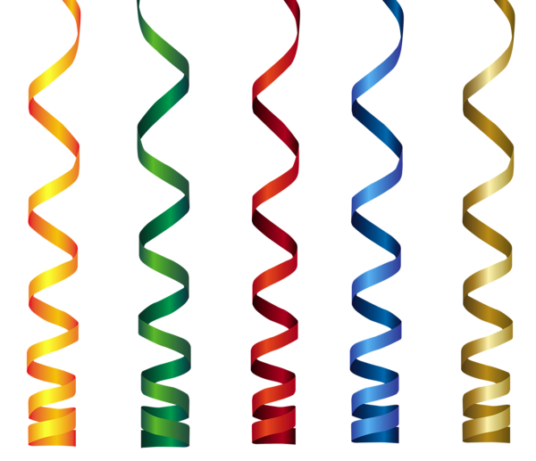 svg black and white library Curly Ribbons Transparent PNG Clip Art Image