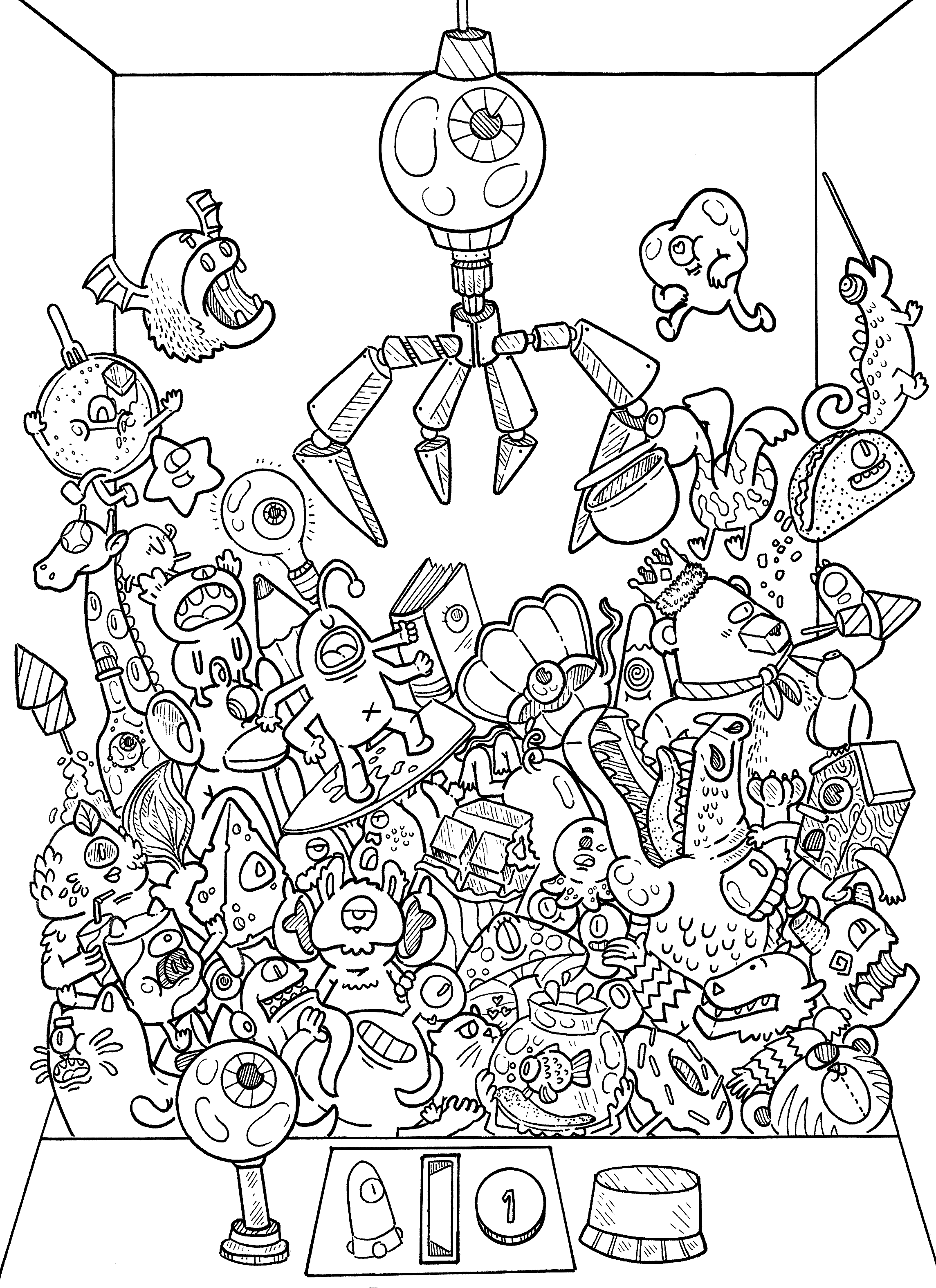 svg black and white stock doodle coloring book