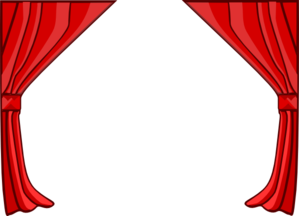 image library stock Curtain vector transparent. Just red curtains clip