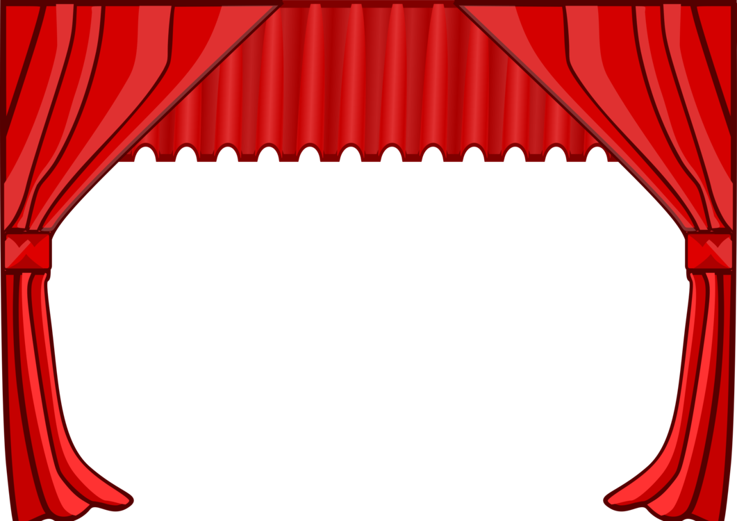 svg Theater drapes and stage curtains Cinema free commercial clipart