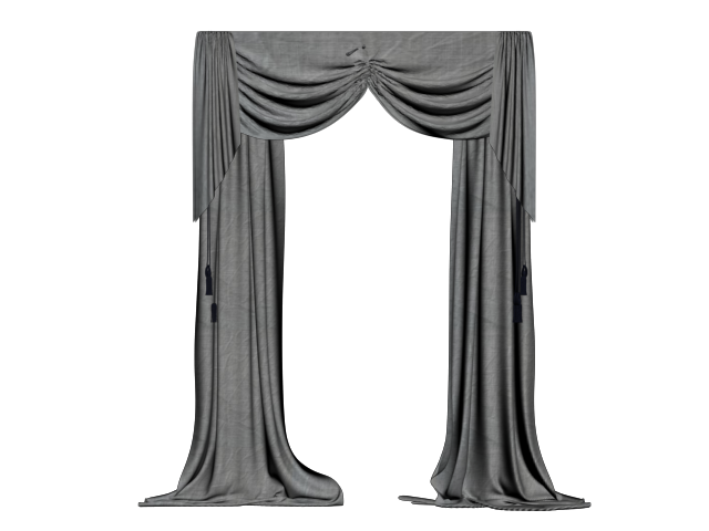 png black and white curtains by